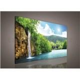 Obraz na stenu vodopád 75 x 100 cm