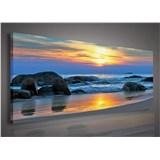 Obraz na stenu západ slnka nad morom 145 x 45 cm