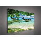 Obraz na stenu lode v zálive 75 x 100 cm