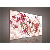 Obraz na stenu srdca s kvetinami 75 x 100 cm