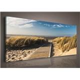 Obraz na stenu piesočná pláž 145 x 45 cm