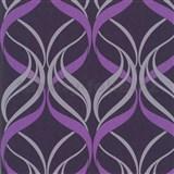 Tapety na stenu Orpheo - ornamenty fialové