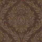 Luxusné tapety na stenu Orpheo zámocký ornament hnedý