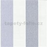 Vliesové tapety na stenu Patchwork - pruhy modro-biele