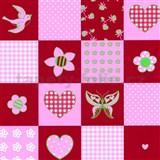 Detské tapety Playground - patchwork - červený