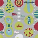 Detské tapety Playground - ulica - zelená