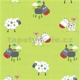 Detské tapety Playground - zvieracia farma - zelená