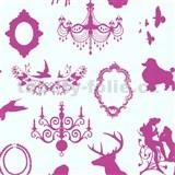 Detské tapety Playground - barokový design - ružový