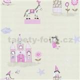 Detské tapety Playground - rozprávkový svet - svetlo ružový - ZĽAVA