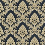 Tapety na stenu Poison - barokový vzor - zlatý