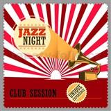 Retro tabula Jazz Night 30 x 30 cm -  POSLEDNÉ KUSY