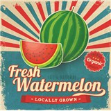 Retro tabule Fresh Watermelon 30 x 30 cm