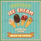 Retro tabule Ice Cream 30 x 30 cm