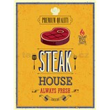 Retro tabule Steak House 40 x 30 cm
