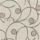 Vliesové tapety na stenu Studio Line - Magic Circles - hnedé na svetlo hnedom podklade