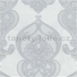 Vliesové tapety na stenu Studio Line - Graceful zámocký vzor bielo-sivé s leskom