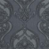 Vliesové tapety na stenu Studio Line - Graceful zámocký vzor sivý s leskom