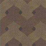Vliesové tapety Design - luxusný zámocký vzor s 3D efektom bronzovo-medený