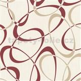 Tapety na stenu Timeless - elipsy hnedo-červené
