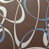 Tapety na stenu Timeless - elipsy modro-biele - MEGA ZĽAVA