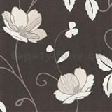 Tapety na stenu Trésor Reloaded - japonské kvety - krémové