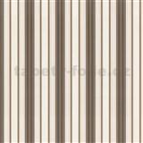 Luxusné tapety Trésor - pruhy - hnedé