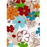 Ubrusy - květy barevné