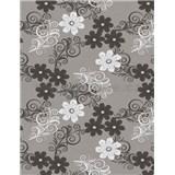 Ubrusy - květy bílo-šedé