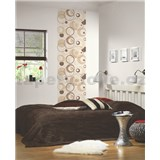 Tapetové design panely Wall Panel - Circles Brown