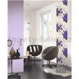 Tapetové design panely Wall Panel - Leaves Purple