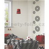 Tapetové design panely Wall Panel - Rings Black