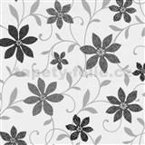 Tapety na stenu Wish kvety hnedé