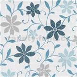 Tapety na stenu Wish kvety tyrkysové