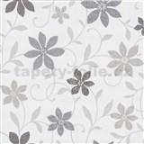 Tapety na stenu Wish kvety šedé