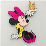 3D Penová dekorácia na stenu Minnie s motýlikom