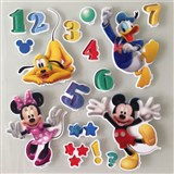 3D samolepky na stenu detské Mickey, Minnie, Donald, Goofy