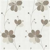 Vliesové tapety Belcanto - kvety hnedé