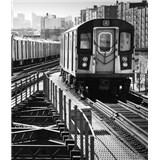Luxusné vliesové fototapety New York - čiernobiele, rozmer 325,5 x 270cm