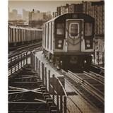 Luxusné vliesové fototapety New York - sépia, rozmer 325,5 x 270cm