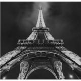 Luxusné vliesové fototapety Paríž - čiernobiele, rozmer 279 x 270cm