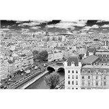 Luxusné vliesové fototapety Paríž - čiernobiele, rozmer 418,5 x 270cm