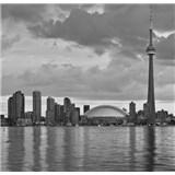 Luxusné vliesové fototapety Toronto - čiernobiele, rozmer 279 x 270cm