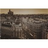 Luxusné vliesové fototapety Madrid - sépia, rozmer 418,5 x 270cm
