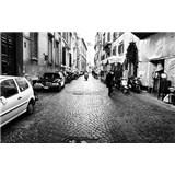 Luxusné vliesové fototapety Rím - čiernobiele, rozmer 418,5 x 270cm