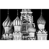 Luxusné vliesové fototapety Moskva - čiernobiele, rozmer 418,5 x 270cm
