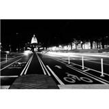 Luxusné vliesové fototapety Washington dc - čiernobiele, rozmer 418,5 x 270cm