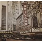 Luxusné vliesové fototapety Chicago - sépia, rozmer 279 x 270cm