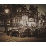 Luxusné vliesové fototapety Amsterdam - sépia, rozmer 325,5 x 270cm