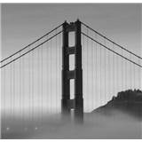 Luxusné vliesové fototapety San Francisco - čiernobiele, rozmer 279 x 270cm
