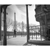 Luxusné vliesové fototapety Paríž - čiernobiele, rozmer 325,5 x 270cm